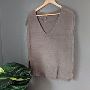 Free People Loose Knit Tank Small
